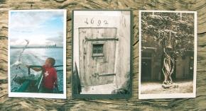 postcards on wood (1)