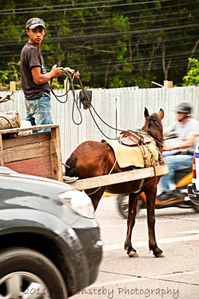 On the streets of La Ceiba, Honduras