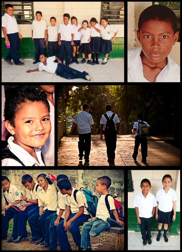 Children of Utila collage of images