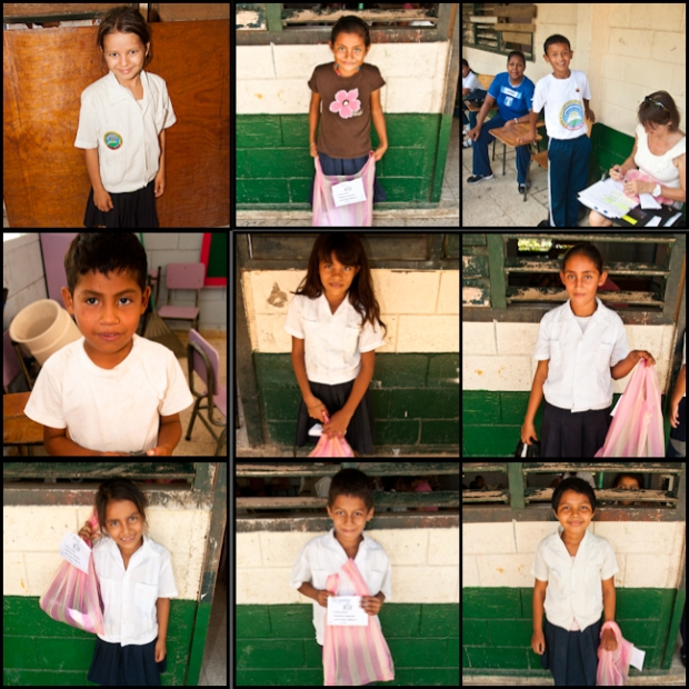 Here is a handful of kids who have received new uniforms at the public school of Utila, Honduras.