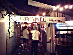 Entrance view of Babalu restaurant on Utila