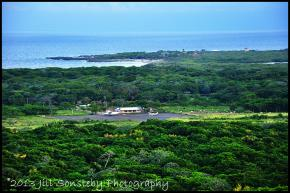View of Utila airport from Pumpkin Hill