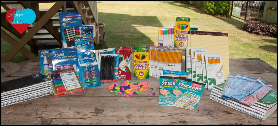 School/teacher supplies donated by couple from Minnesota for the teachers at the public school on Utila, Honduras